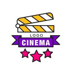 colorful cinema or movie logo template creative vector image