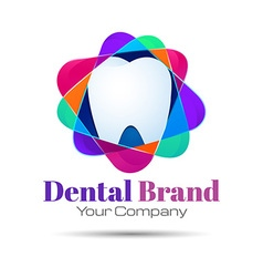 Design teeth logo element Crushing abstract vector image vector image
