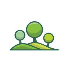 landscape logo for gardening business vector image
