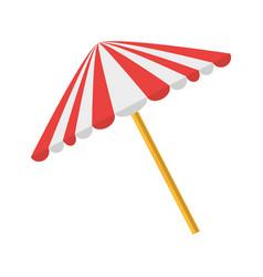 picnic umbrella isolated vector image