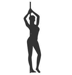 pole dance silhouette vector image