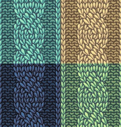 Set of Six-Stitch cable stitch patterns vector image