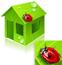eco-house vector image vector image