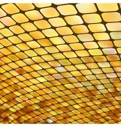 Golden business mosaic vector image