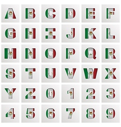 mexico alphabet vector image vector image