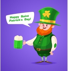 Set of Saint Patrick Day character cute vector image