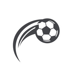 swoosh soccer football logo icon vector image