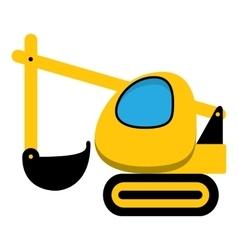 Excavator icon vector image vector image