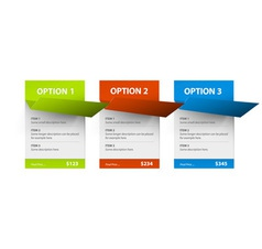Options red green blue hranate inv vector