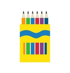 Colored engineering office pencils vector image vector image