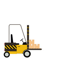 forklift truck isolated on white background with vector image