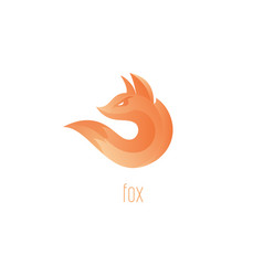 logo fox fox flame abstract symbol vector image