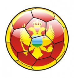 montenegro flag on soccer ball vector image vector image