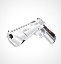 Silver hand gun vector image