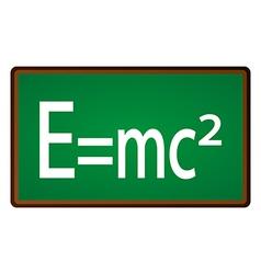 Theory of relativity chalkboard vector