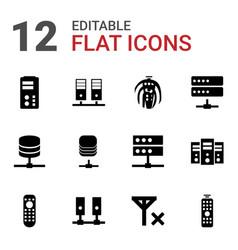 12 remote icons vector