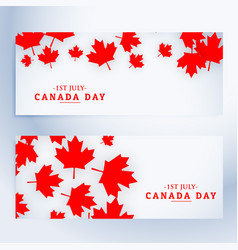 1st july canada day banners vector
