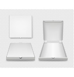 3d realistic blank white closed and opened vector