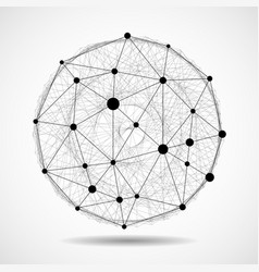 Abstract wireframe globe sphere network connect vector