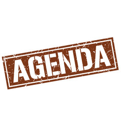 Agenda square grunge stamp vector