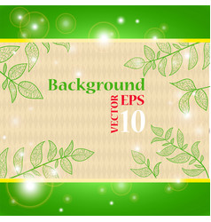 Background with branches and leaves vector