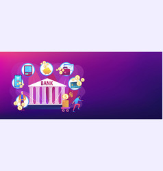 Banking operations concept banner header vector