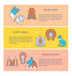 banners with popular historical egypt symbols and vector image