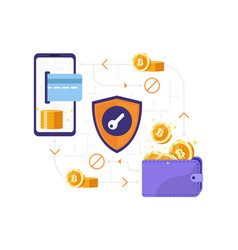 bitcoin transaction concept vector image