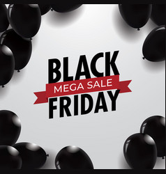 black friday sale background template with balloon vector image