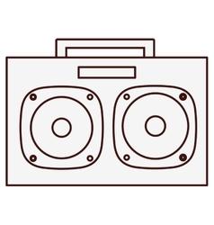 Boom box icon image vector