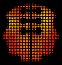 Bright pixel dual head interface icon vector