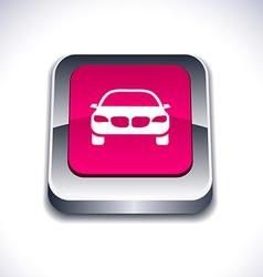 Car 3d button vector