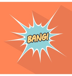 Cartoon bang Design element for the site vector image vector image