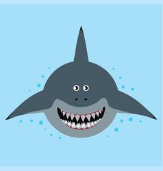 Cartoon funny shark vector