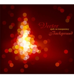 Christmas tree defocused light vector image