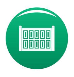 Concrete fence icon green vector