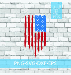 Distressed vertical usa flag american pngsvgexf vector