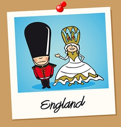 England travel polaroid people vector image