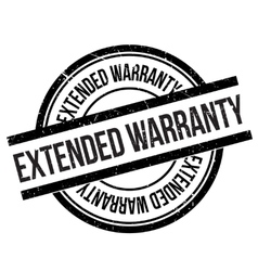 Extended warranty stamp vector image