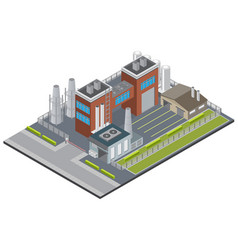 Factory infrastructure isometric background vector