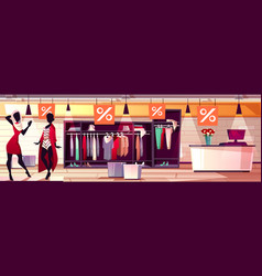fashion women boutique sale vector image