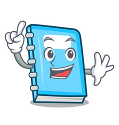 finger education mascot cartoon style vector image