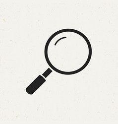 flat magnifier icon vector image