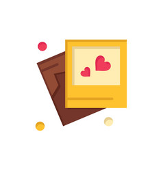 frame love heart wedding flat color icon icon vector image