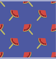 fresh slice of watermelon seamless pattern vector image