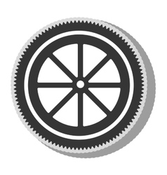 Gear bike wheel icon vector