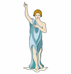 Goddess with raised arm vector