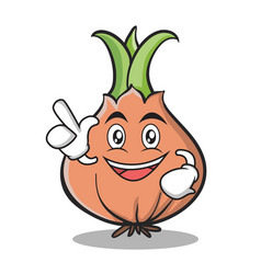 have an idea onion character cartoon vector image