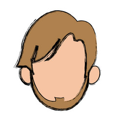 Head man character profile people design vector