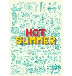 Hot summer vector